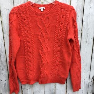Gap Red cable knit sweater women s